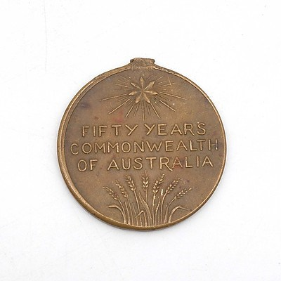 1901 to 1951 Fifty Years Commonwealth of Australia Medallion