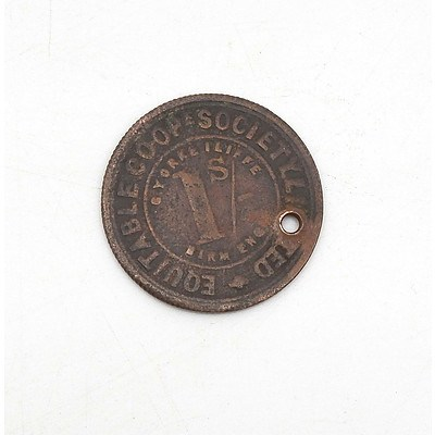 Equitable Co-op Society 1 Shilling