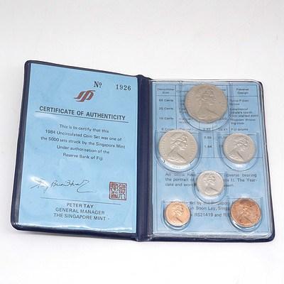 1984 Fiji Islands Uncirculated Mint Six Coin Set