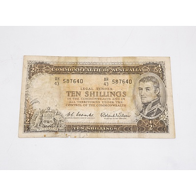 Australian Ten Shillings Banknote