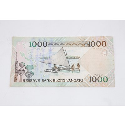 Reserve Bank of Vanuatu One Thousand Vatu Banknote