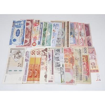 Twenty-four International Banknotes