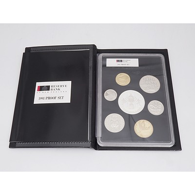 1991 New Zealand Proof Coin Set