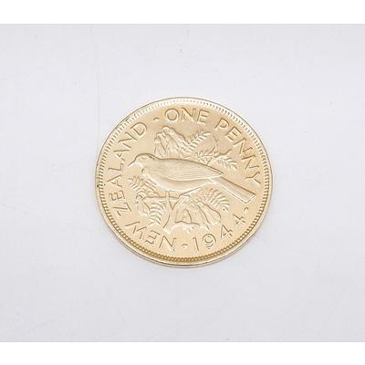 1944 New Zealand Penny