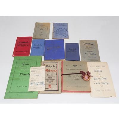 Royal Antediluvian Order of Buffaloes S.A. Vintage Ephemera