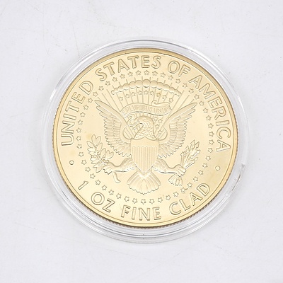 1964 Special Gold Plated US Kennedy Medallion