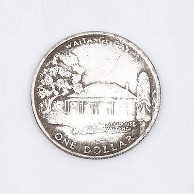 """1903 New Zealand """"Waitangi Day"""" One Dollar Medallion"""