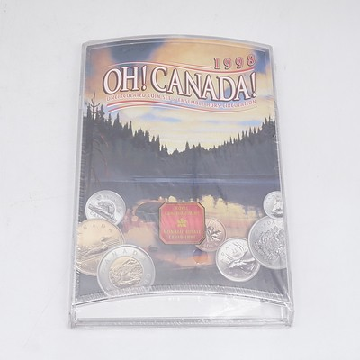 1998 Oh! Canada Uncirculated Coin Set - Brand New