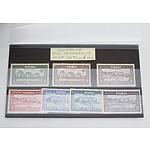 1928 Romania Basarabiei Stamps Mint Set