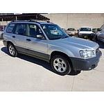 7/2002 Subaru Forester X 4d Wagon Silver 2.5L