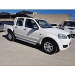9/2011 Great Wall V200 (4x2) K2 Dual Cab Utility White 2.0L