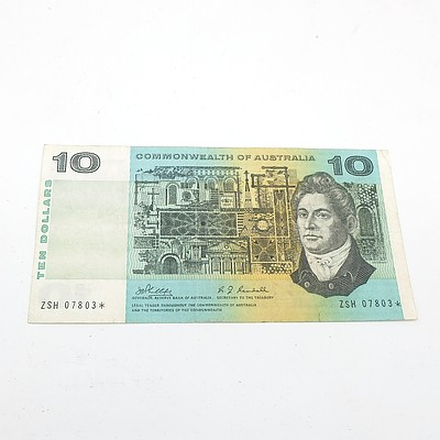 Scarce Commonwealth of Australia $10 Star Note, Phillips/Randall ZSH07803*