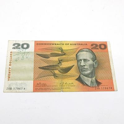 Scarce Commonwealth of Australia $20 Star Note, Phillips/Randall ZXA17967*
