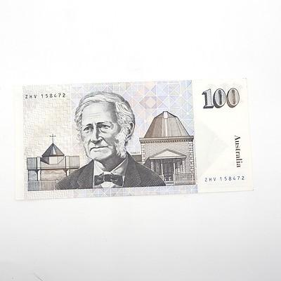 Australian One Hundred Cole/Fraser Paper Note, ZHV158472