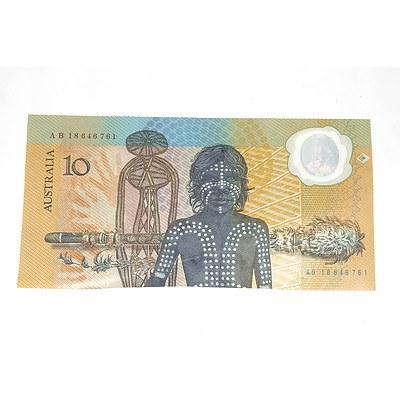 1988 Australian Polymer Bicentennial Commemorative $10 Note, AB18646761