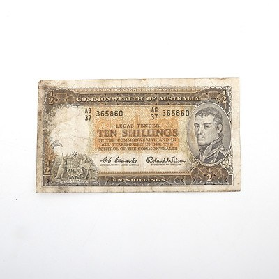 Commonwealth of Australia 10 Shillings Coombs/Wilson AG37 365860