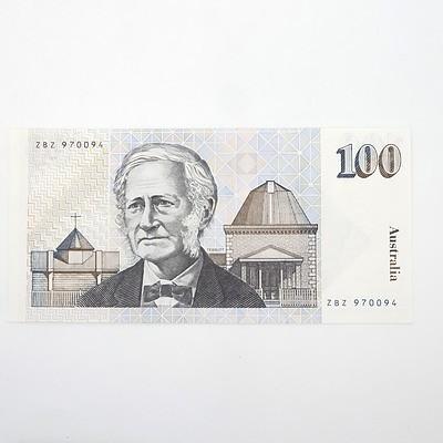 Australian Johnston/Stone $100 Paper Note, ZBZ970094