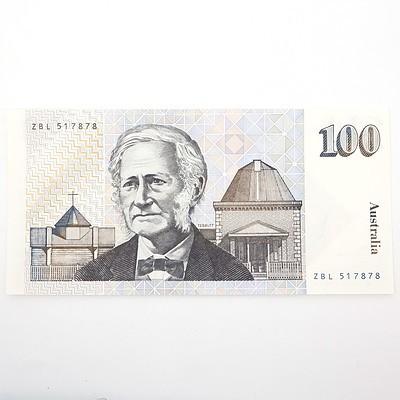 Australian Johnston/Frasier $100 Paper Note, ZBL517878