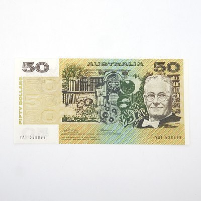Australian Phillips/Wheeler $50 Paper Note, YAT538899