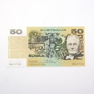 Australian Knight/Wheeler $50 Paper Note, YBH517332