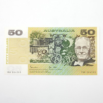 Australian Johnston/Stone $50 Paper Note, YNH064368