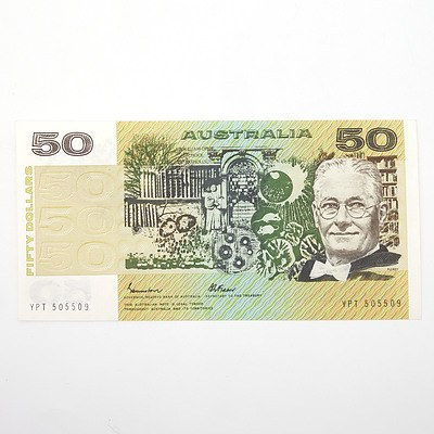 Australian Johnston/Fraser $50 Paper Note, YPT505509