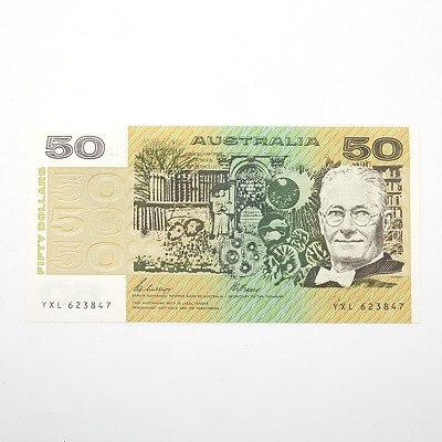 Australian Phillips/Fraser $50 Paper Note, YXL623847