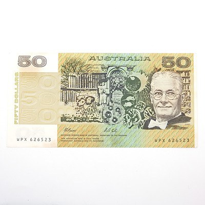 Australian Fraser/Cole $50 Paper Note, WPX626523