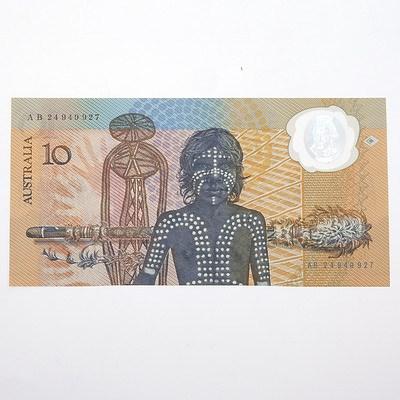 1988 Australian Polymer Bicentennial Commemorative $10 Note, AB249498927