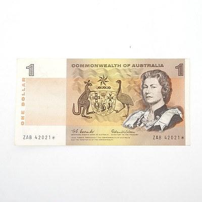 Scarce Commonwealth of Australia $1 Star Note, Coombs/Wilson ZAB42021*