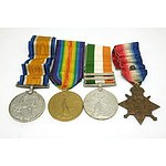 Four Medals Belonging to Pte E Frith, Including South Africa Medal 1901 and 1902, 1914 British Star, 1914-19 Medal and 1914-18 Medal