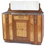 Superb French Art Deco Walnut and Burr Walnut Sideboard Circa 1925
