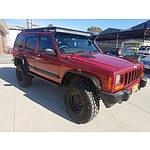 2/2000 Jeep Cherokee Sport (4x4) XJ 4d Wagon Red 4.0L