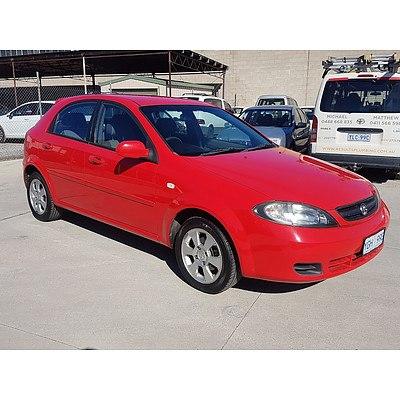 8/2008 Holden Viva  JF MY08 UPGRADE 5d Hatchback Red 1.8L