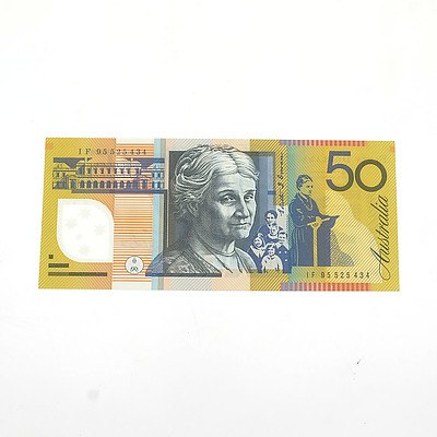 Australian Uncirculated $50 Fraser/ Evans Polymer Note, IF95925434