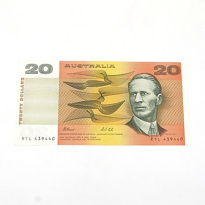 Uncirculated $20 Fraser/ Cole Paper Note, RTL439440