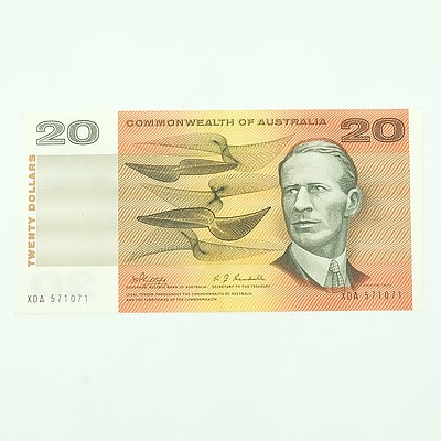 1968 Commonwealth of Australia Uncirculated Phillips/Randell $20 Note, XDA571071