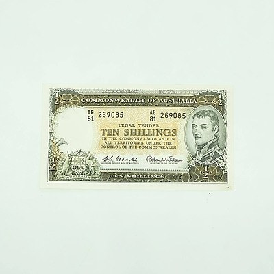 Commonwealth of Australia Ten Shillings Banknote