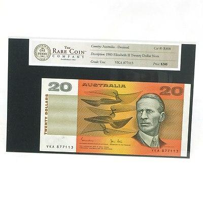 Australian Uncirculated $20 Johnston / Stone Paper Note, YKA877113