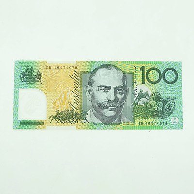 2010 Uncirculated $100 Polymer Note, CB10674079