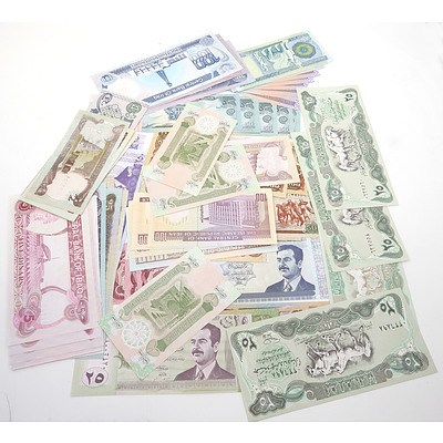 Large Group of Banknotes From Iraq, Iran and Afghanistan