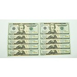 Ten Consecutively Numbered Unites States of American $20 Notes, GB92588191B-GB92588200B