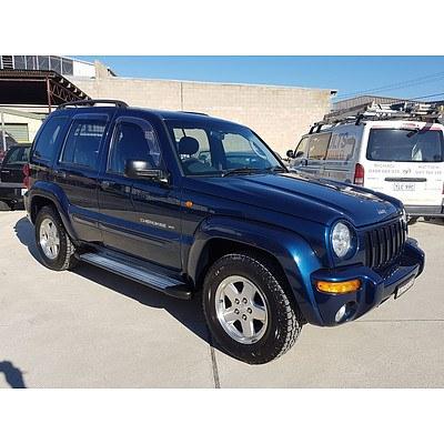 6/2003 Jeep Cherokee Limited (4x4) KJ 4d Wagon Blue 3.7L
