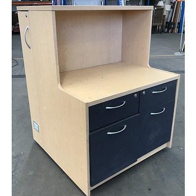 Beech Laminate Personal Storage & Filing Caddy
