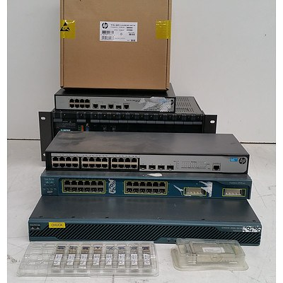 Bulk Lot of Assorted IT Equipment - Switches, Security Appliance & Networking Modules