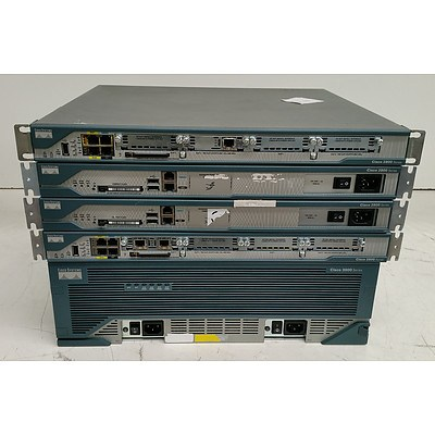 Cisco Systems 2800 Series & 3800 Series Integrated Service Routers - Lot of Five