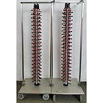 Plate-Mate Plate Stacker Trolleys - Lot of Two