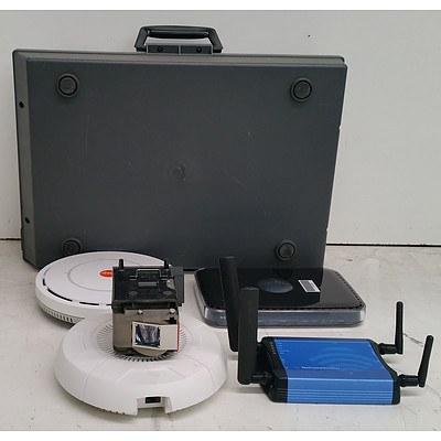 Bulk Lot of Assorted IT Equipment - Routers, Access Points & Projector Lamps