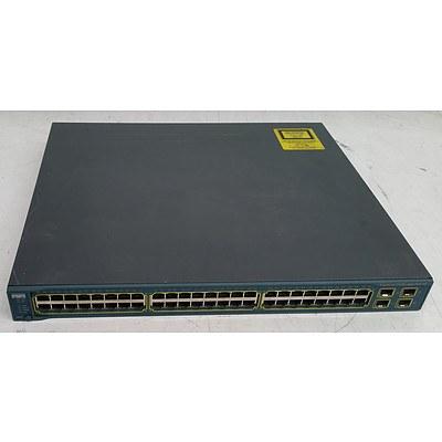 Cisco Catalyst (WS-C3560G-48PS-S V05) Catalyst 3560G Series PoE-48 48-Port Gigabit Managed Switch