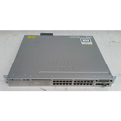 Cisco Catalyst (WS-C3850-24T-L V06) 3850-24 24-Port Gigabit Managed Switch
